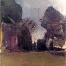 Independence garden,26x35,Oil on canvas,2001