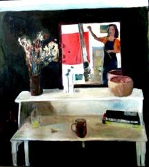 Interior room 90X102 oil on canvas 2003