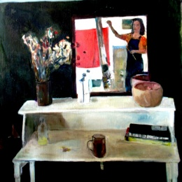 Interior room 90X102 oil on canvas 2003