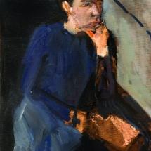 Ram, 42x25, Oil on Wood, 2004