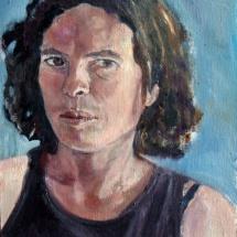 Self Portrait, 24.5x34.5