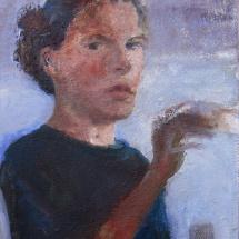 Self portrait ,26x19, oil on canvas 2002