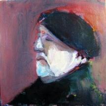 Yan, 30x30,Oil on canvas